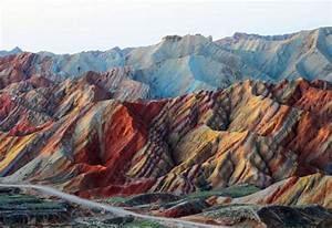 The colorful Danxia mountains of China