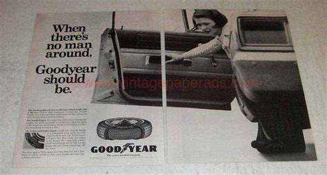 1966 2-page Goodyear Double Eagle Tire & Lifeguard Spare Ad