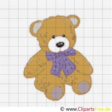 kreuzstickerei teddy kostenlos