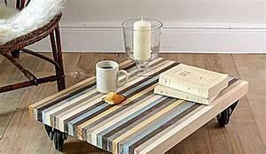 Palette En Bois Pas Cher : comment fabriquer une table basse pas cher le bois chez vous ~ Dallasstarsshop.com Idées de Décoration
