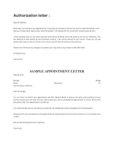 authorization letter sample  act  behalf unique