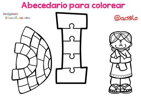 Abecedario para colorear (9) Imagenes Educativas