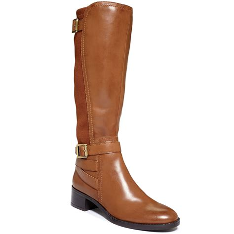 franco sarto celine tall stretch boots brown lyst