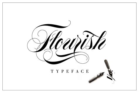 flourish typeface desktop font type tester