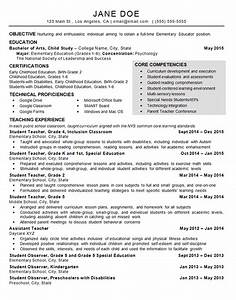 resume template sample resume for daycare teacher free With daycare resume examples