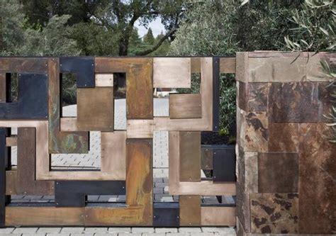 beautiful fence designs blending  materials  unique modern walls