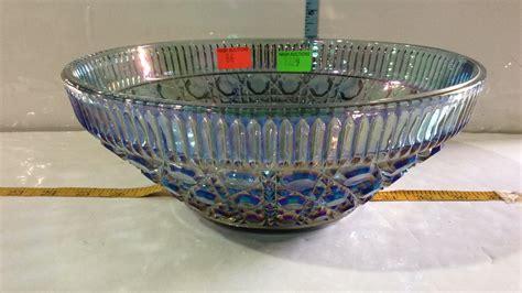 carnival glass bowl blue carnival glass seven bowl