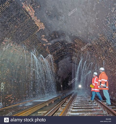 Water Leaking Into Rail Tunnel Following Heavy Rain