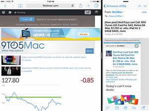 hands on with ios 9s split screen multitasking on the With word documents side by side mac
