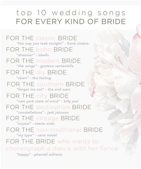 top  unexpected wedding songs unique wedding song ideas