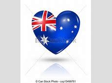 Love australia, heart flag icon Love australia symbol 3d