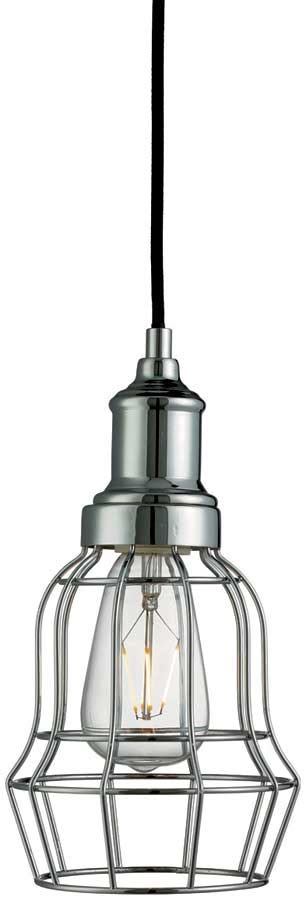 industrial style kitchen lighting industrial style polished chrome bell cage kitchen pendant 4681