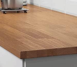 Installer Un Plan De Travail : plan de travail cuisine sur mesure en bois ou stratifi ikea ~ Melissatoandfro.com Idées de Décoration