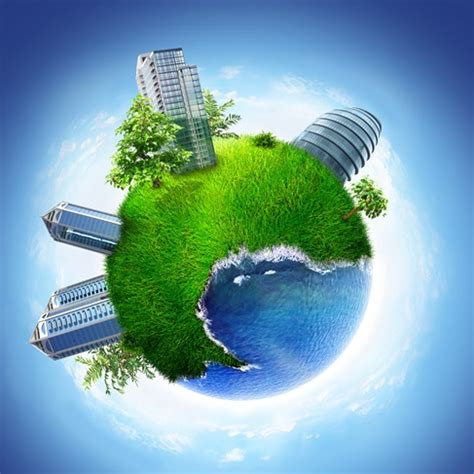 conceptual symbol   green earth globe graphics