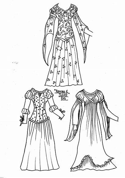 Paper Dolls Printable Romeo Juliet Elizabethan Clothing