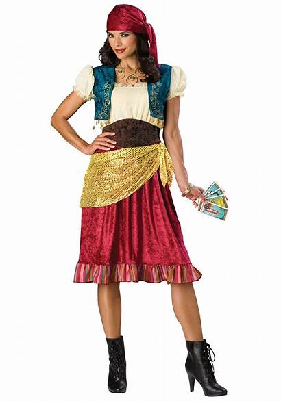 Gypsy Costume Bohemian Fortune Teller Mystic Halloween