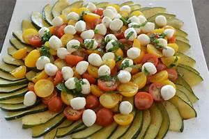 Salat Mit Zucchini : zucchini carpaccio mit tomaten mozzarella salat und ~ Lizthompson.info Haus und Dekorationen