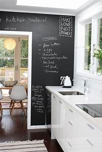 25 best ideas about kitchen chalkboard walls on pinterest With best brand of paint for kitchen cabinets with modern art wall