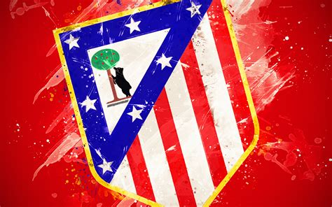 Download wallpapers Atletico Madrid, 4k, paint art ...