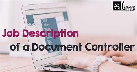 job description   document controller consepsys