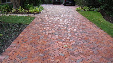 brick driveway brick paver driveways evergreen landscape