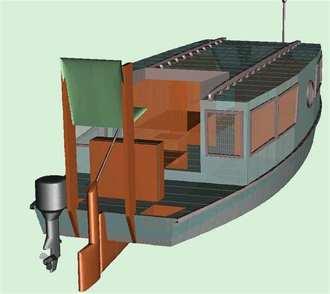 Scow Houseboat Plans by Plans Shantyboatliving Page 2
