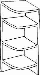 Furniture Shelves Coloring Pages sketch template