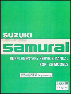 car repair manuals online pdf 1989 suzuki sidekick free book repair manuals 1989 suzuki samurai repair shop manual supplement original