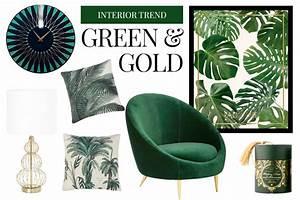 G C Interiors : interior farbtrend gr n gold edition noire ~ Watch28wear.com Haus und Dekorationen