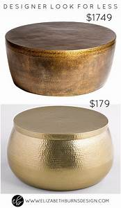 designer look for less gold hammered coffee table With gold hammered coffee table