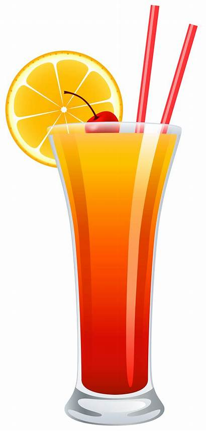 Clipart Cocktail Sunrise Tequila Drink Drinks Hurricane