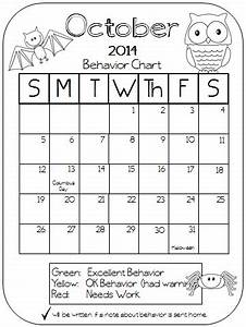 colors and kindergarten behavior calendars 2014 2015 With monthly behavior calendar template