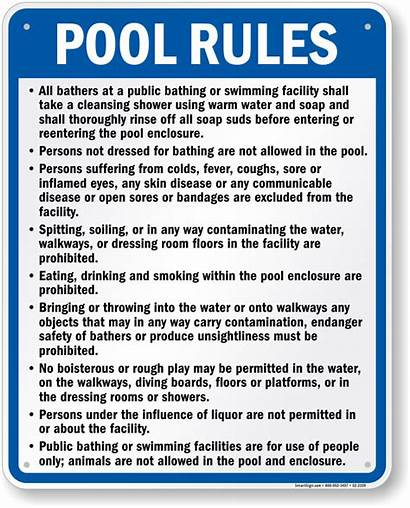 Pool Rules Swimming Signs Nevada Sign Spa