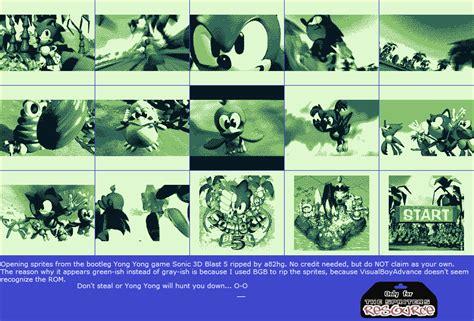 spriters resource full sheet view sonic  blast