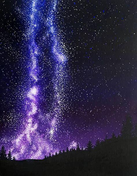 Milky Way Galaxy Art Star Painting Celestial Home Decor