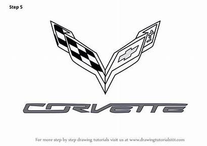 Corvette Draw Drawing Logos Step Lamborghini Brand