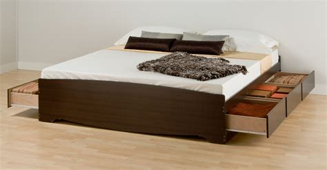 Platform Bed Storage by Prepac King Platform Storage Bed Bk 8400