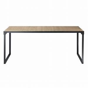 Table Maison Du Monde : table de salle manger indus en bois et m tal l 180 cm docks maisons du monde ~ Teatrodelosmanantiales.com Idées de Décoration