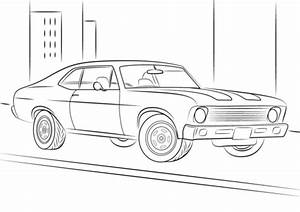 1970 chevrolet chevy ii nova coloring page free With 1967 chevy crew cab