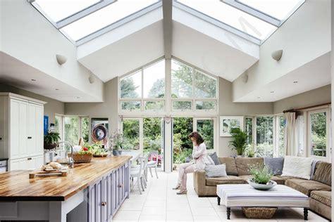restored bungalow  open plan kitchen area interior
