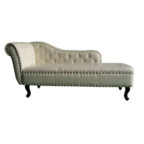 chaise chesterfield chesterfield chaise deck chair white vidaxl com au