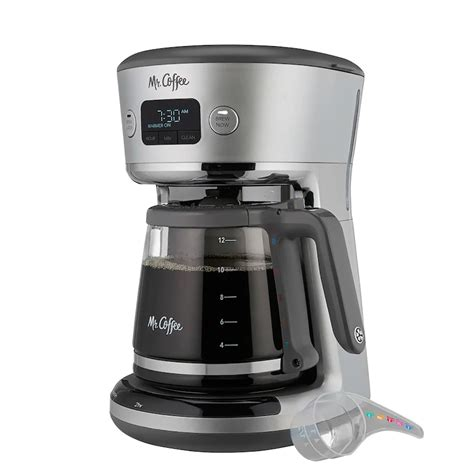 Set it ahead of time with delay. Mr. Coffee Easy Measure 12-Cup Programmable Coffee Maker ...