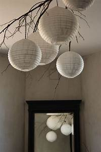 Suspension Boule Papier : suspension nature lampe boule papier de riz yoga studio pinterest nature design et ~ Teatrodelosmanantiales.com Idées de Décoration