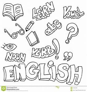 English Symbols And Learning Items Stock Vector - Image ...