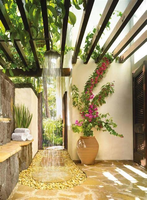 15 Fabulous Outdoor Shower Ideas Letting You Cherish A
