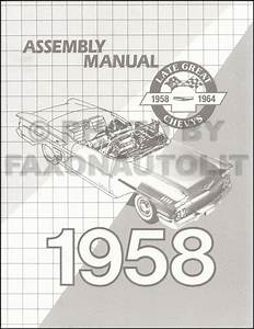1958 Impala Bel Air Biscayne Del Ray Assembly Manual 58