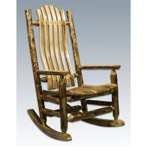 montana woodworks 174 glacier country log rocking chair