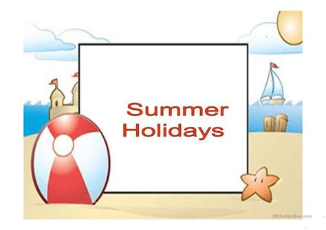 summer holidays - ppt - English ESL Powerpoints for ...
