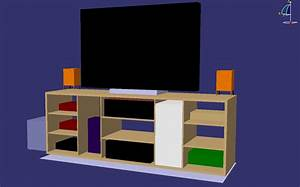 Plan De Meuble : fabriquer son meuble tv en bois le blog du bois ~ Melissatoandfro.com Idées de Décoration