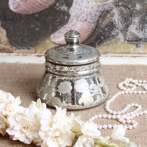 decorative lids for jars antique style mercury glass jar with lid home decor ebay